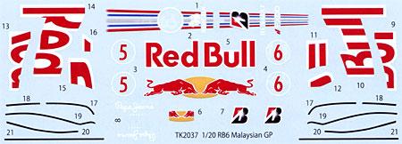 レッドブル RB6 マレーシアGP スペアデカールデカール(スタジオ27F-1 オリジナルデカールNo.SDT2037)商品画像
