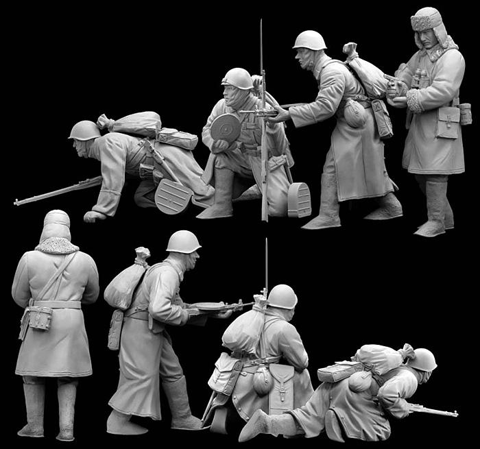 ソビエト 歩兵 1941年 冬プラモデル(ドラゴン1/35 39-45 SeriesNo.6744)商品画像_3
