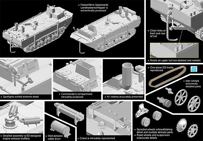 パンツァーフェリー 装甲水陸両用牽引車 (LWS) 試作2号車プラモデル(ドラゴン1/72 ARMOR PRO (アーマープロ)No.7490)商品画像_2