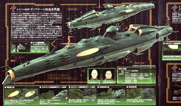 大ガミラス帝国航宙艦隊 ガミラス艦セット 2プラモデル(バンダイ宇宙戦艦ヤマト 2199No.0182332)商品画像_1