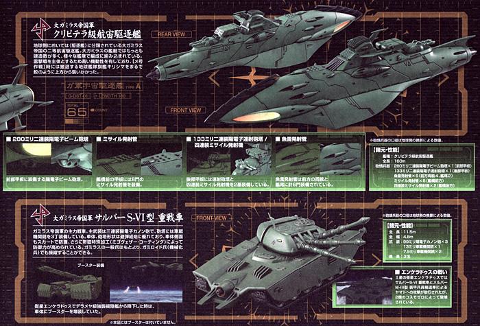 大ガミラス帝国航宙艦隊 ガミラス艦セット 2プラモデル(バンダイ宇宙戦艦ヤマト 2199No.0182332)商品画像_2