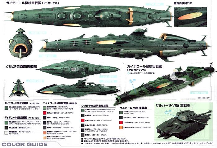 大ガミラス帝国航宙艦隊 ガミラス艦セット 2プラモデル(バンダイ宇宙戦艦ヤマト 2199No.0182332)商品画像_3