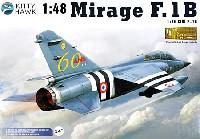 キティホーク1/48 ミリタリーエアクラフト プラモデルミラージュ F.1B 戦闘機