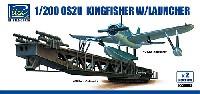 アメリカ OS2U キングフィッシャー 水上機 + カタパルト