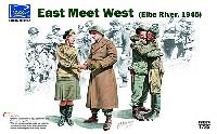 エルベの誓い 1945 (米ソ兵士 4体セット 戦車兵 & 女性他)
