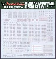 パッションモデルズ1/35 デカールシリーズWW2 ドイツ軍装備品デカールセット (Vol.2)
