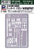 ピットロード1/35 エッチングパーツ シリーズ日本海軍 陸戦隊 ヴィッカース・クロスレイ M25 四輪装甲車用 エッチングパーツ