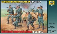 ズベズダ1/72 ミリタリーWW2 ドイツ歩兵セット 1942-1944