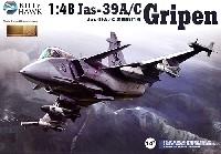 キティホーク1/48 ミリタリーエアクラフト プラモデルサーブ Jas-39A/C グリペン