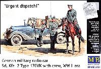 マスターボックス1/35 ミリタリーミニチュアドイツ 軍用小型無線通信車 Sd.Kfz.2 170VK w/クルー
