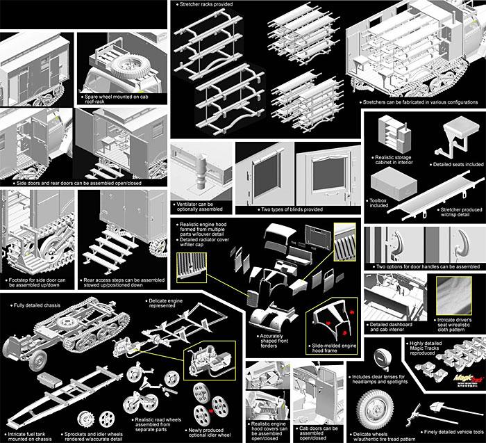 ドイツ Sd.Kfz.3 マウルティア 野戦救急車プラモデル(サイバーホビー1/35 AFV シリーズ ('39~'45 シリーズ)No.6766)商品画像_2