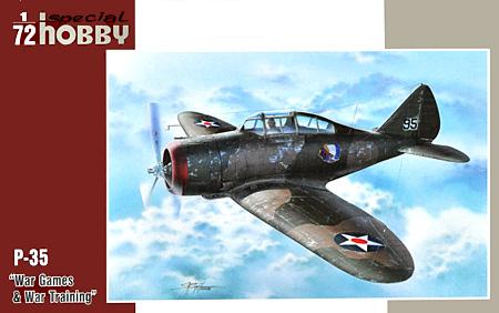 セバスキー P-35 戦闘機 訓練迷彩塗装 スペシャルホビー プラモデル