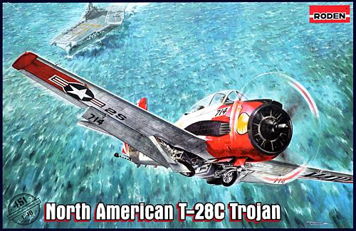 ノースアメリカン T-28C トロージャン 複座レシプロ艦上練習機プラモデル(ローデン1/48 エアクラフト プラモデルNo.451)商品画像