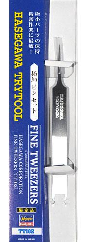 極細ピンセット (精密作業用)ピンセット(ハセガワトライツールNo.TT102)商品画像