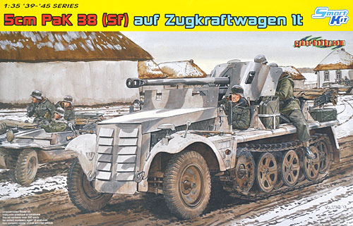 ドイツ 1tハーフトラック 5cm PaK38 対戦車砲搭載自走砲プラモデル(サイバーホビー1/35 AFV シリーズ (