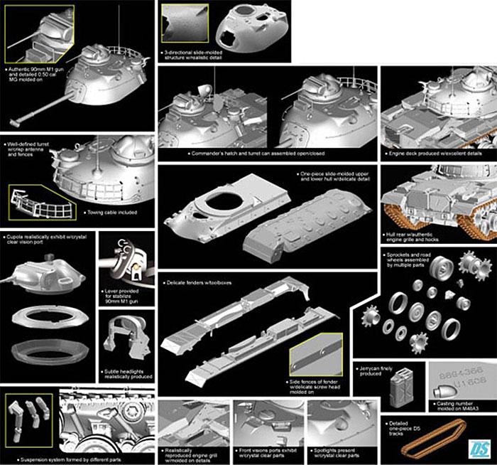アメリカ M48A3 Mod.B パットン 主力戦車プラモデル(サイバーホビー1/35 Modern AFV SeriesNo.3544)商品画像_2