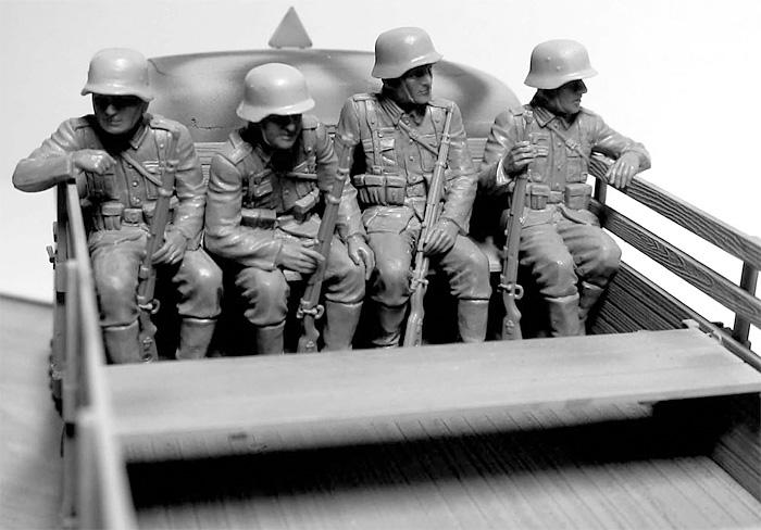 ドイツ 装甲擲弾兵 6体 乗車シーンプラモデル(マスターボックス1/35 ミリタリーミニチュアNo.MB35137)商品画像_2
