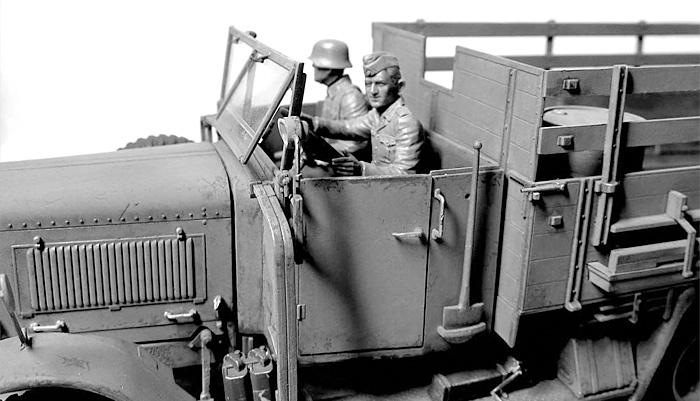 ドイツ 装甲擲弾兵 6体 乗車シーンプラモデル(マスターボックス1/35 ミリタリーミニチュアNo.MB35137)商品画像_3