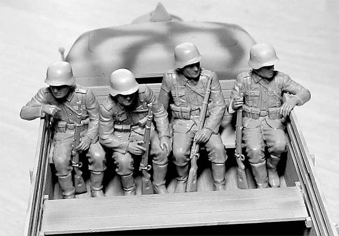 ドイツ 装甲擲弾兵 6体 乗車シーンプラモデル(マスターボックス1/35 ミリタリーミニチュアNo.MB35137)商品画像_4