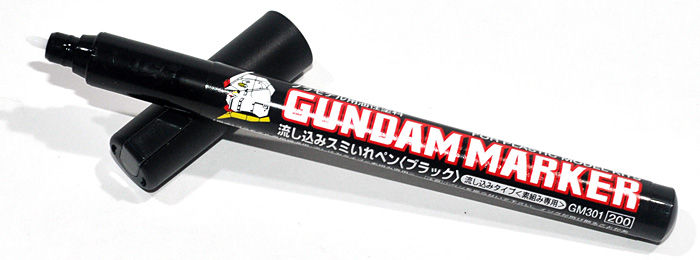 ガンダムマーカー 流し込みスミ入れペン ブラックマーカー(GSIクレオスガンダムマーカーNo.GM-301)商品画像_1