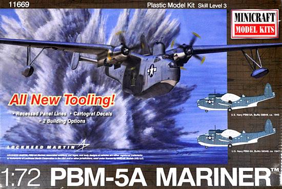 マーチン PBM-5A マリナープラモデル(ミニクラフト1/72 航空機プラスチックモデルキットNo.11669)商品画像