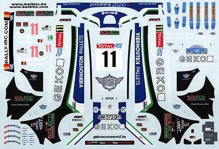 プジョー 207 S2000 #11 Geko Ypres Rally 2010デカール(BELKITSデカールNo.BEL-DEC002)商品画像