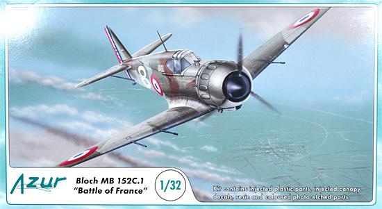 ブロッシュ MB152C.1 フランス戦プラモデル(アズール1/32 航空機モデルNo.A060)商品画像