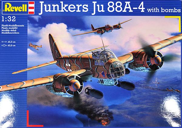ユンカース Ju88A-4プラモデル(レベル1/32 AircraftNo.03988)商品画像