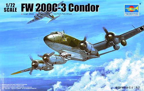 フォッケウルフ Fw200C-3 コンドルプラモデル(トランペッター1/72 エアクラフト プラモデルNo.01637)商品画像