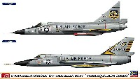 F-102A デルタダガー & F-106A デルタダート タイガースコードロン コンボ (2機セット)