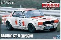 アオシマ1/24 ザ・スカイラインスカイライン HT 2000 GT-R 筑波100km ゼッケン5 (KPGC10) '71