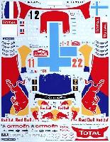 タブデザイン1/24 デカールシトロエン DS3 #1/2 モンテカルロ WRC 2012
