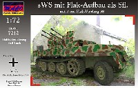 マコ1/72 AFVキットドイツ sWS 重ハーフトラック Flak38型 4連装対空自走砲 装甲タイプ