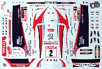 BELKITSデカールプジョー 207 S2000 #2 Rally Monte Carlo 2011