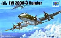 トランペッター1/72 エアクラフト プラモデルフォッケウルフ Fw200C-3 コンドル