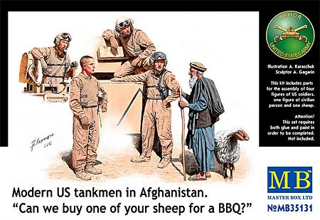 アメリカ 現用戦車兵 & 現地老人 + 羊 (アフガン戦)プラモデル(マスターボックス1/35 ミリタリーミニチュアNo.MB35131)商品画像