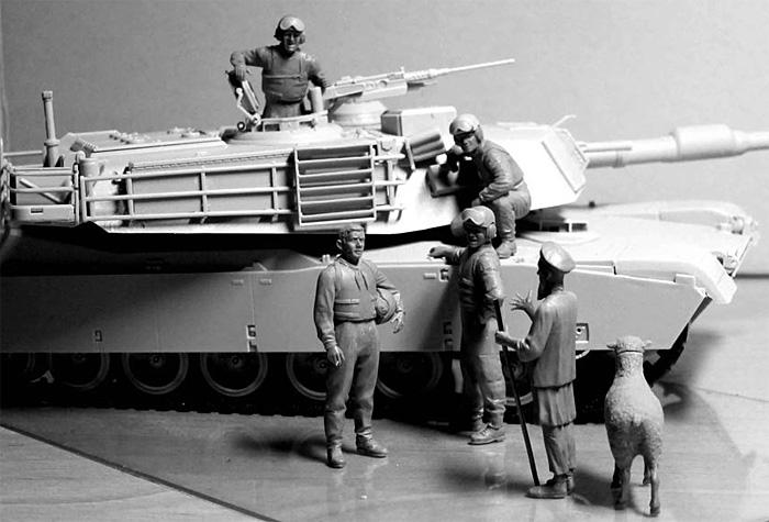 アメリカ 現用戦車兵 & 現地老人 + 羊 (アフガン戦)プラモデル(マスターボックス1/35 ミリタリーミニチュアNo.MB35131)商品画像_3