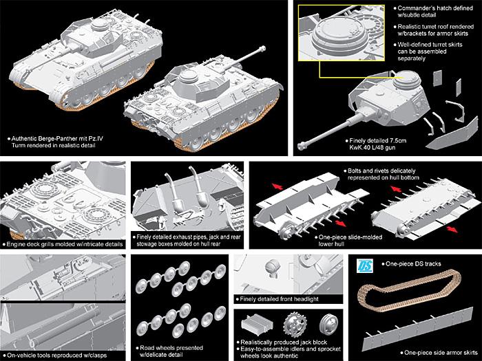 ベルゲパンター 4号戦車砲塔搭載型プラモデル(ドラゴン1/72 ARMOR PRO (アーマープロ)No.7508)商品画像_2