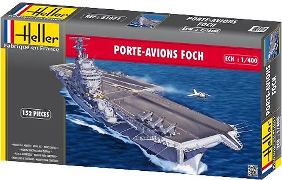 フォッシュ フランス航空母艦プラモデル(エレール1/400 艦船モデルNo.81071)商品画像