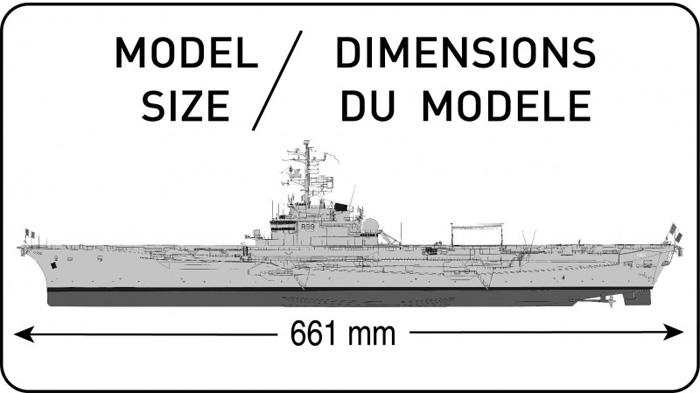 フォッシュ フランス航空母艦プラモデル(エレール1/400 艦船モデルNo.81071)商品画像_1