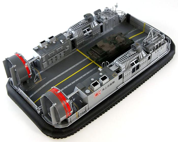 海上自衛隊 エアクッション型揚陸艇 LCAC 1号型 (10式戦車キット1個付)プラモデル(ピットロードスカイウェーブ D シリーズNo.D-003)商品画像_4
