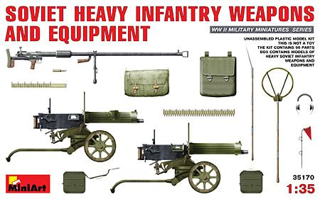 ソビエト重火器・装備品プラモデル(ミニアート1/35 WW2 ミリタリーミニチュアNo.35170)商品画像