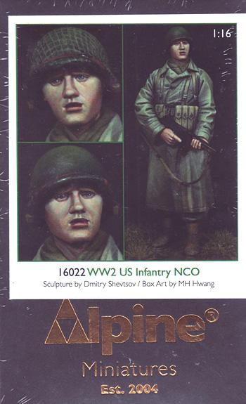 WW2 アメリカ歩兵 下士官レジン(アルパイン1/16 フィギュアNo.AM16022)商品画像