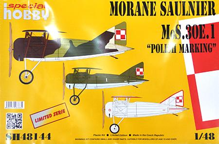 モラーヌ・ソルニエ 30E1 戦闘機 ポーランド軍仕様プラモデル(スペシャルホビー1/48 エアクラフト プラモデルNo.SH48144)商品画像