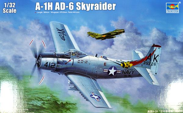 A-1H/AD-6 スカイレーダープラモデル(トランペッター1/32 エアクラフトシリーズNo.02253)商品画像