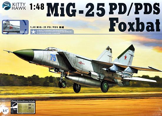 MiG-25 フォックスバット PD/PDSプラモデル(キティホーク1/48 ミリタリーNo.KH80119)商品画像