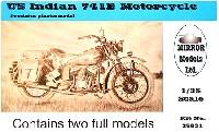 ミラーモデルズ1/35 AFVモデルWW2 米軍用バイク インディアン 741B