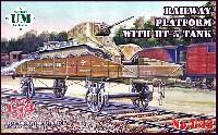 ユニモデル1/72 AFVキットロシア BT-5 快速戦車搭載 無蓋貨車