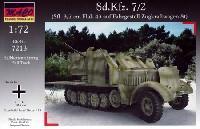 マコ1/72 AFVキットドイツ Sd.Kfz.7/2 8トンハーフトラック Flak43 対空自走砲 装甲タイプ