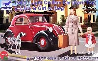 フィアット 500 トッポリーノ 乗用車 ハードトップ + 女性と女児&犬